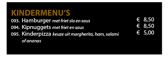 Menukaart 2019 Website Kindermenu 1