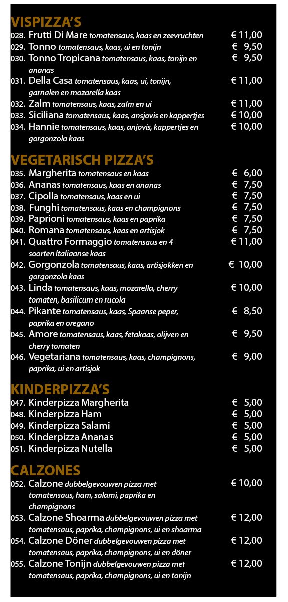 Menukaart 2019 Website Pizza 2